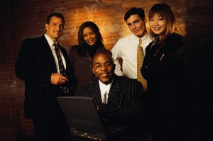 Portrait of Multiracial Group of Businesspeople