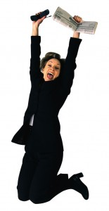 Jubilant Businesswoman